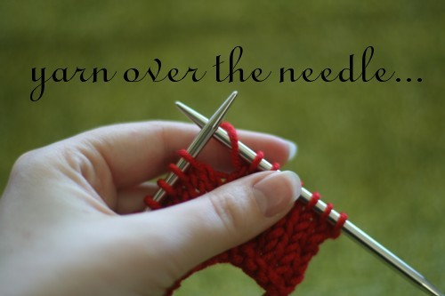 Knitting Terminology Yo : Bella knitting increase tutorial yo